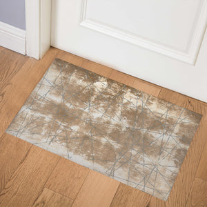 RINCHEN BROWN Indoor Floor Mat By Terri Ellis