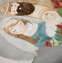 OH COME LET US ADORE HIM Indoor Floor Mat By Terri Ellis