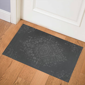 SABRA CHARCOAL Indoor Floor Mat By Kavka Designs