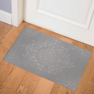 SABRA GREY Indoor Floor Mat By Kavka Designs