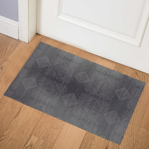 GILDA CHARCOAL Indoor Floor Mat By Kavka Designs