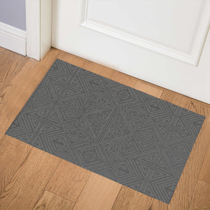 GRETA CHARCOAL Indoor Floor Mat By Kavka Designs