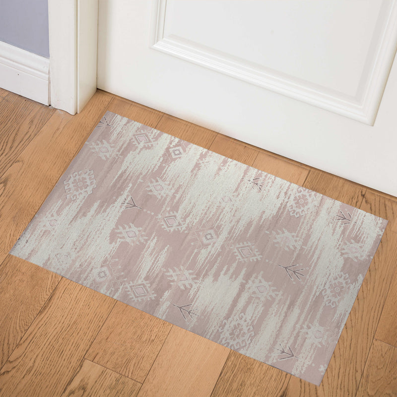 KILIM DISTRESSED PINK Indoor Floor Mat By Kavka Designs