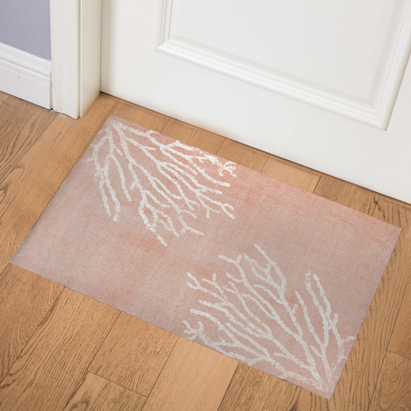 SULTANA BLUSH PINK DESTRESSED Indoor Floor Mat By Terri Ellis