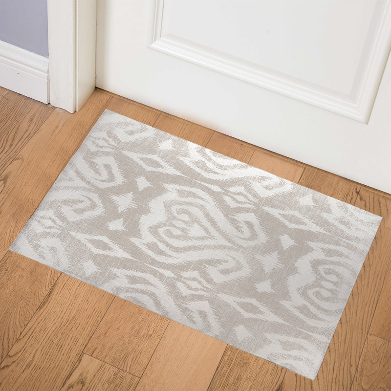 ANNABELLE TAUPE DISTRESSED Indoor Floor Mat By Terri Ellis