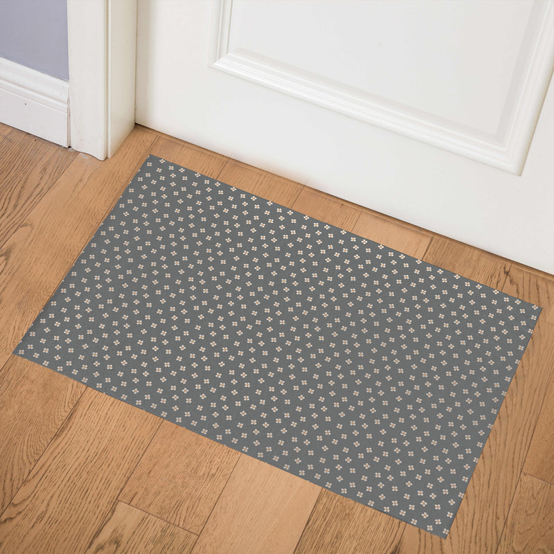 DAINTY CHARCOAL Indoor Floor Mat By Tiffany Wong