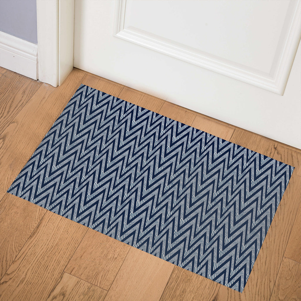 ACRO NAVY Indoor Floor Mat By Becky Bailey