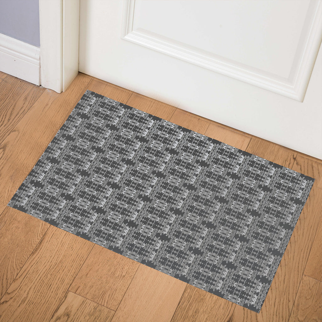 AZTEC DESERT CHARCOAL Indoor Floor Mat By Hope Bainbridge