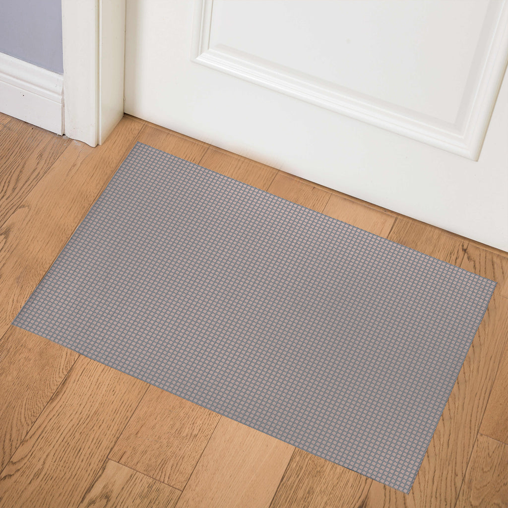 BLIMP BLUE PINK Indoor Floor Mat By Hope Bainbridge