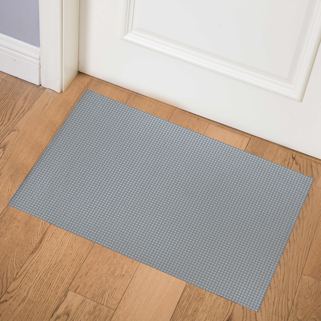 BLIMP GREY BLUE Indoor Floor Mat By Hope Bainbridge