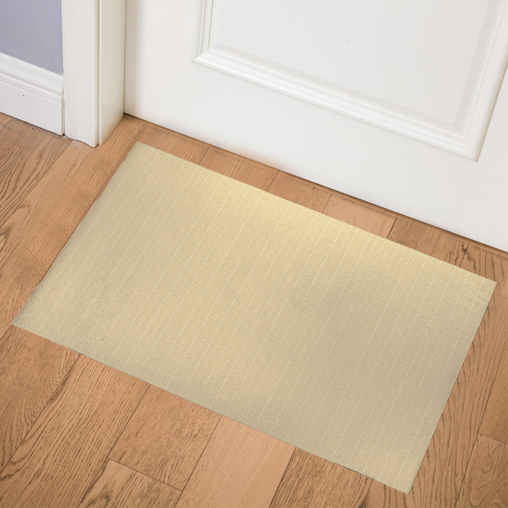 TAXSTONE YELLOW AND WHITE Indoor Floor Mat By Hope Bainbridge