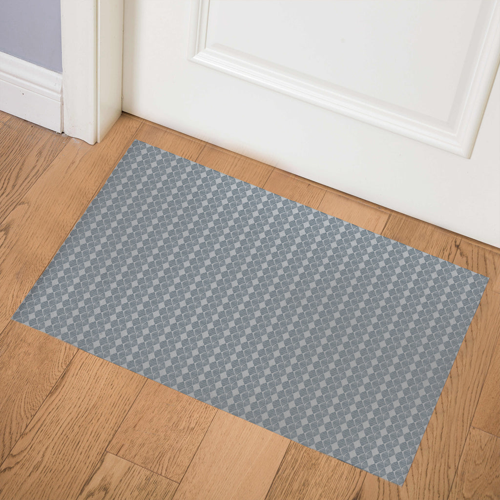 TIKA BLUE GREY Indoor Floor Mat By Hope Bainbridge