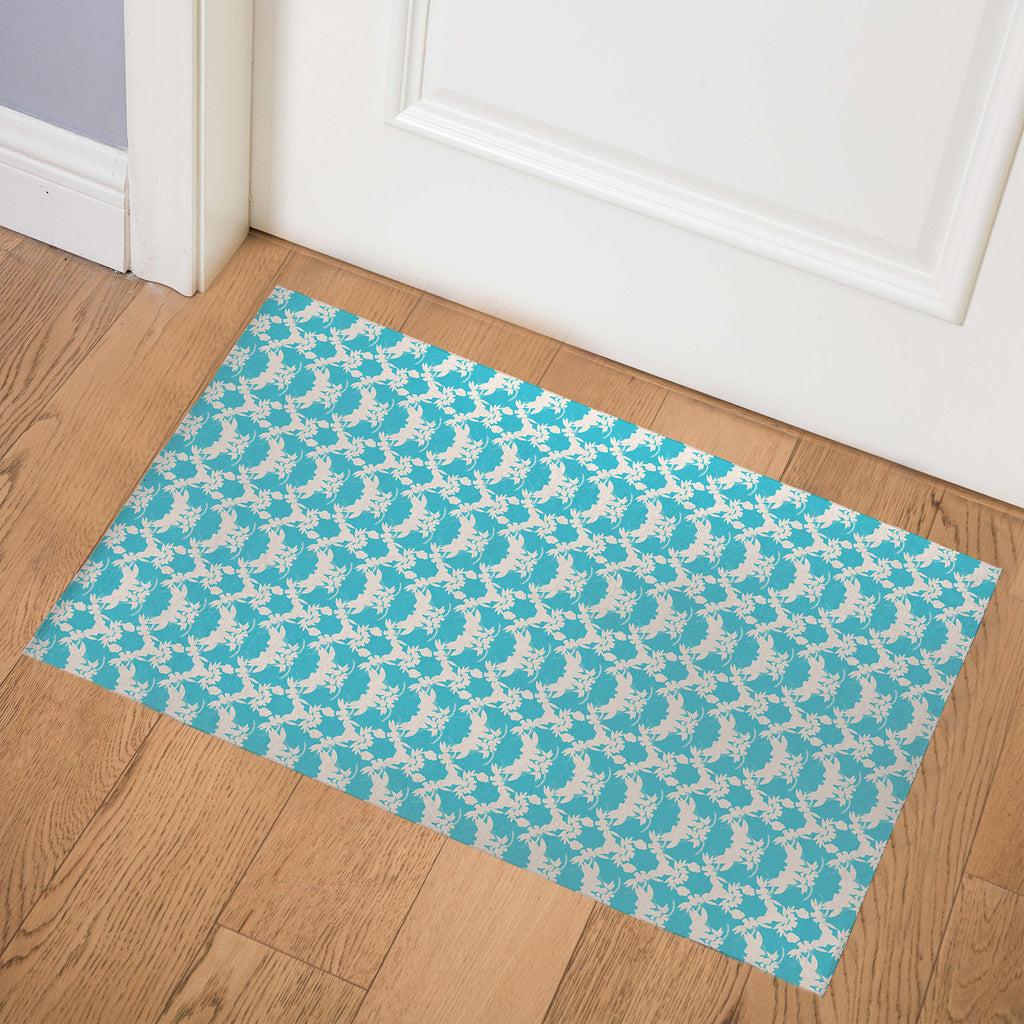 TROPICAL AQUA Indoor Floor Mat By Hope Bainbridge