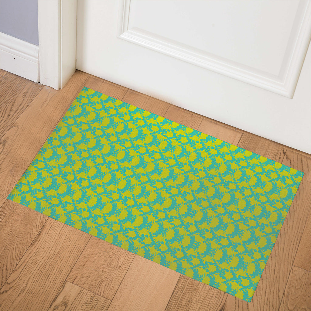 TROPICAL GREEN Indoor Floor Mat By Hope Bainbridge