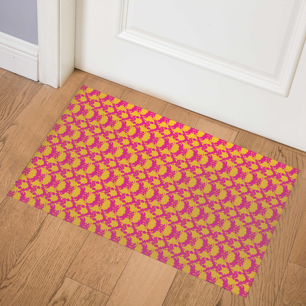 TROPICAL YELLOW Indoor Floor Mat By Hope Bainbridge
