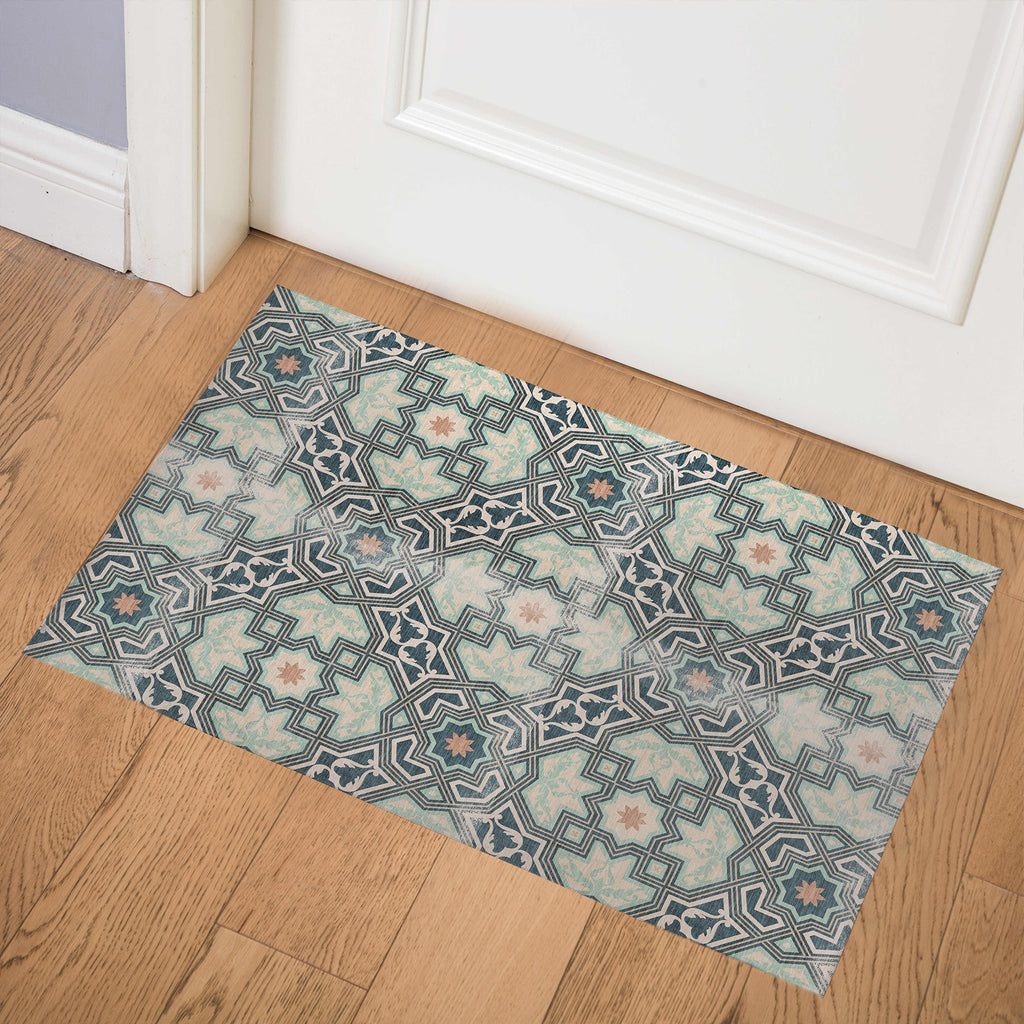 BARCELONA GREEN Indoor Floor Mat By Marina Gutierrez