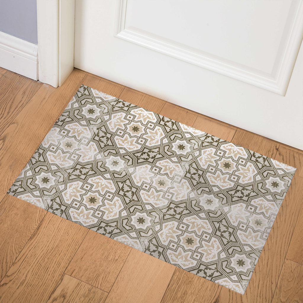 BARCELONA TAN Indoor Floor Mat By Marina Gutierrez