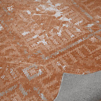 EMMA RUST DISTRESSED Indoor Floor Mat By Terri Ellis