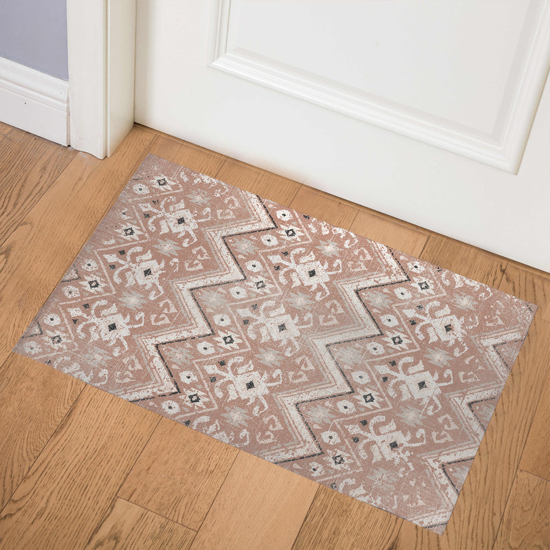 JESSA RUST DISTRESSED Indoor Floor Mat By Terri Ellis