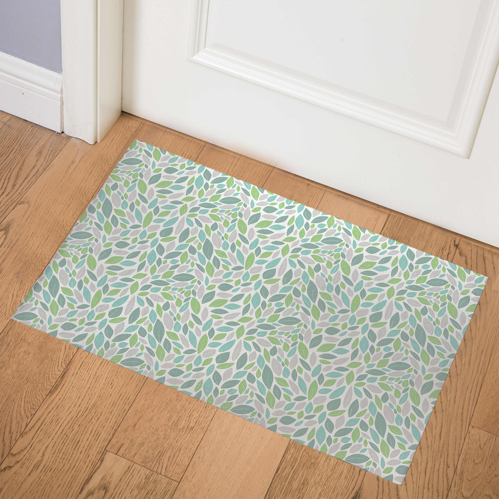 AUTUMN SPRING GREEN Indoor Floor Mat By Tiffany Wong