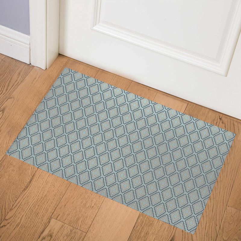 ADVENTURE BLUE Indoor Floor Mat By Tiffany Wong