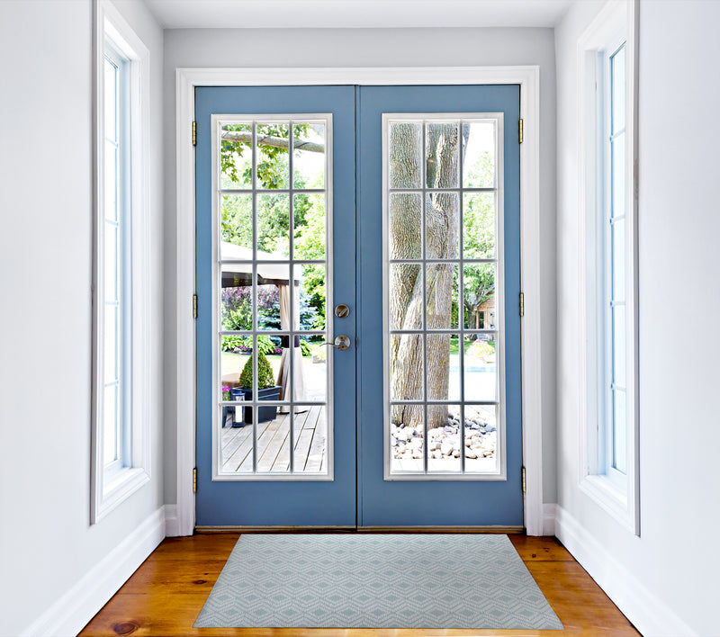 RETREAT BLUE Indoor Floor Mat By Tiffany Wong