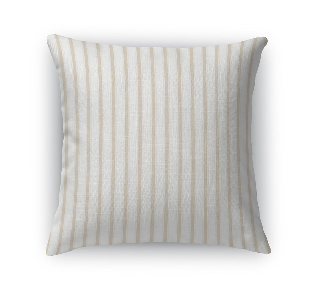 TICKING WHEAT Accent Pillow By Terri Ellis