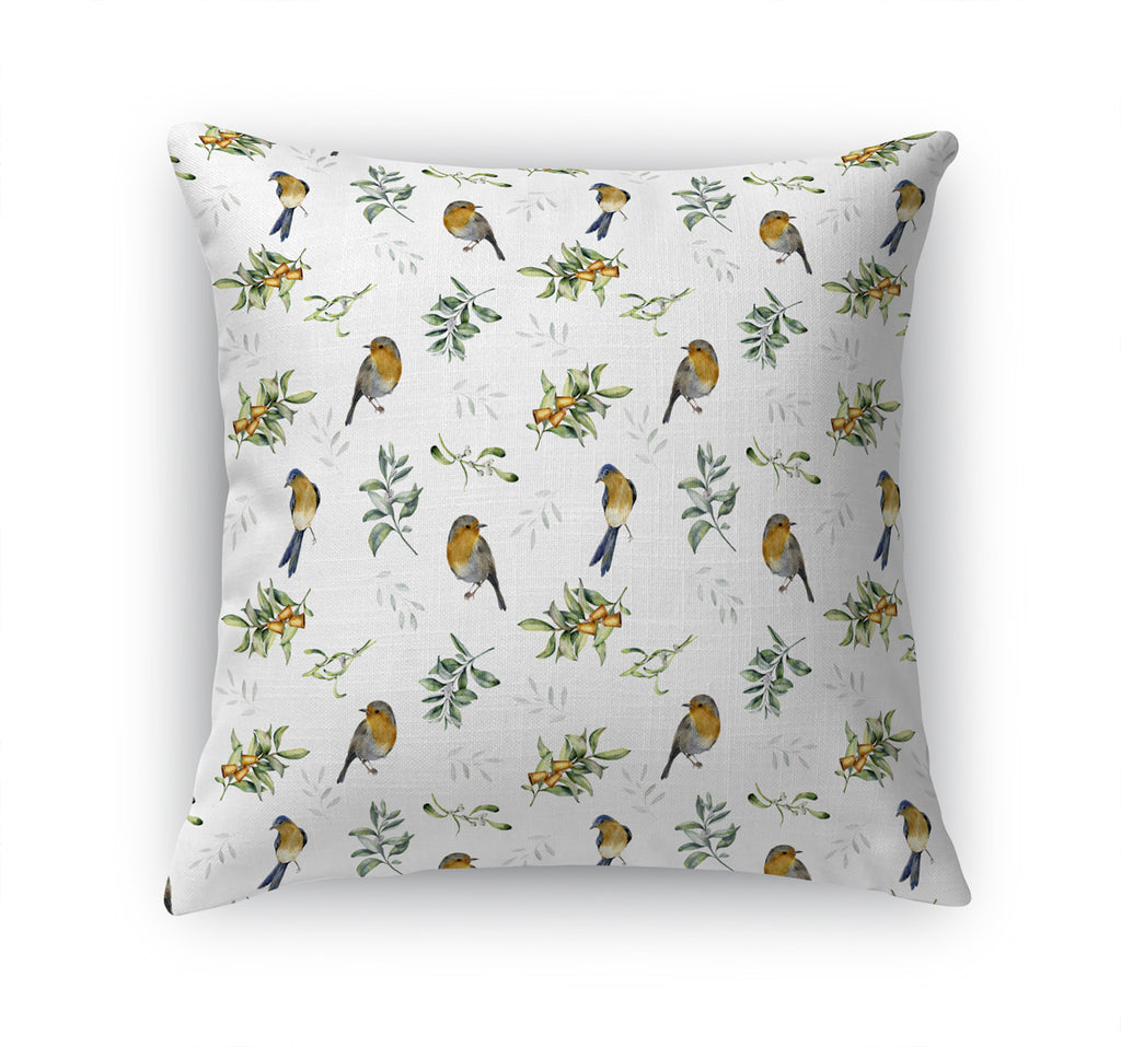 WINTER BIRDS Accent Pillow By Terri Ellis