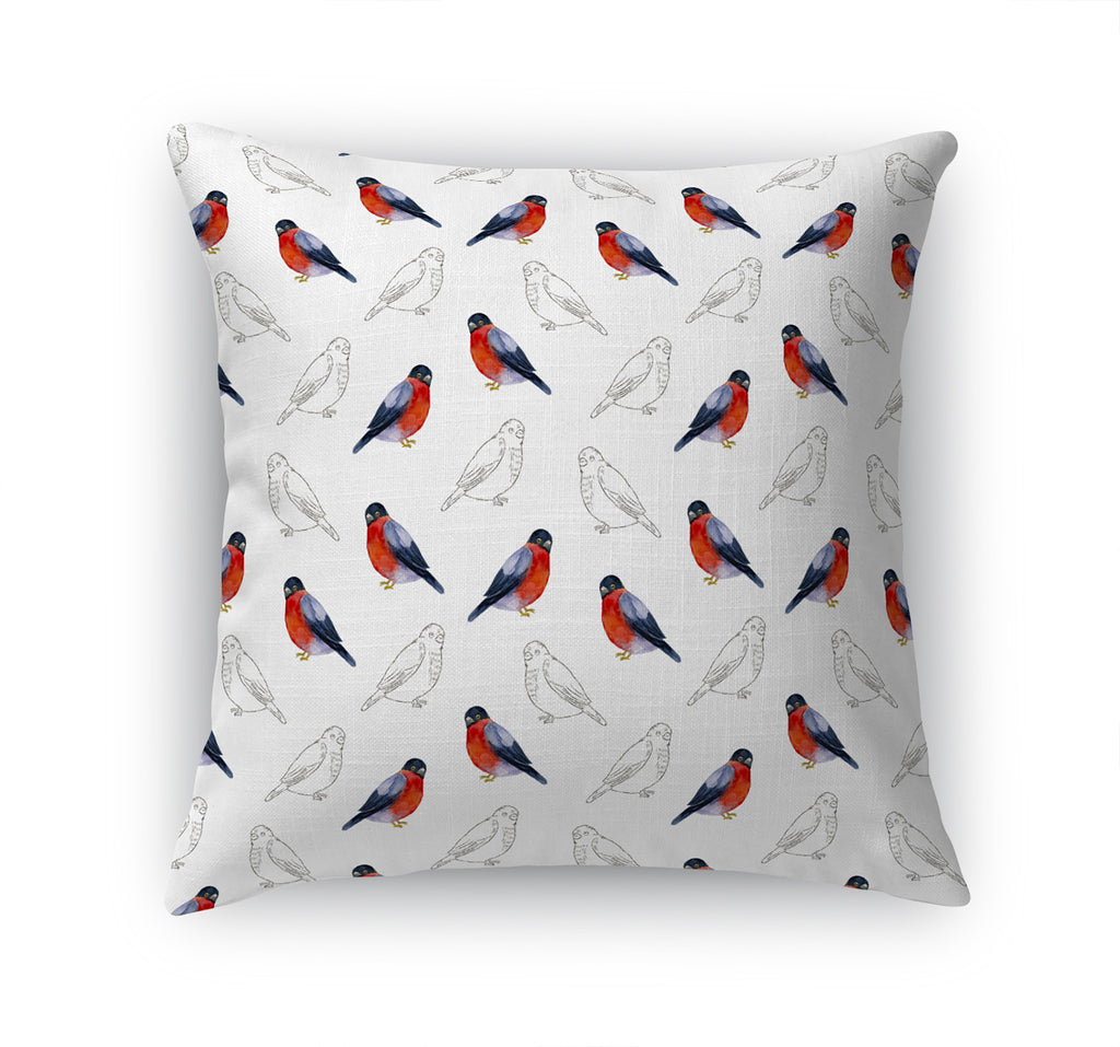 WINTER RED BIRD Accent Pillow By Terri Ellis