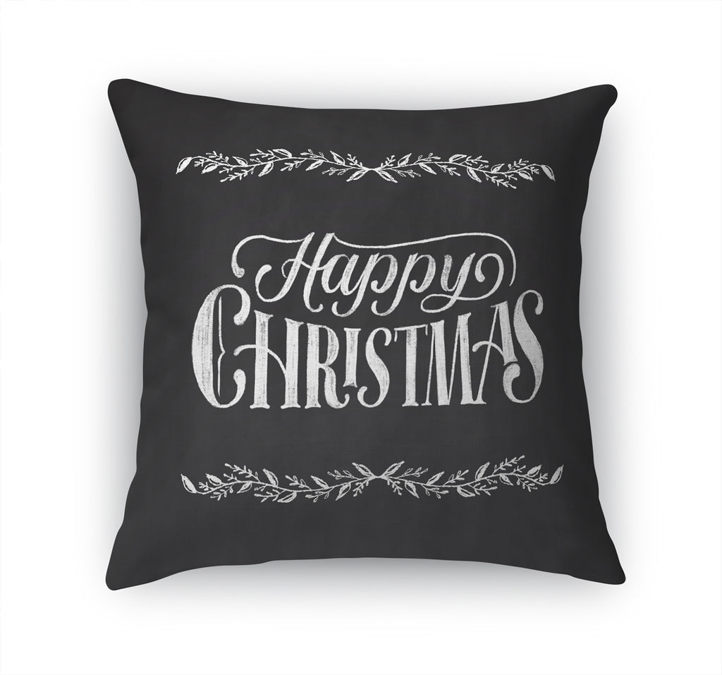 HAPPY CHRISTMAS Accent Pillow By Terri Ellis