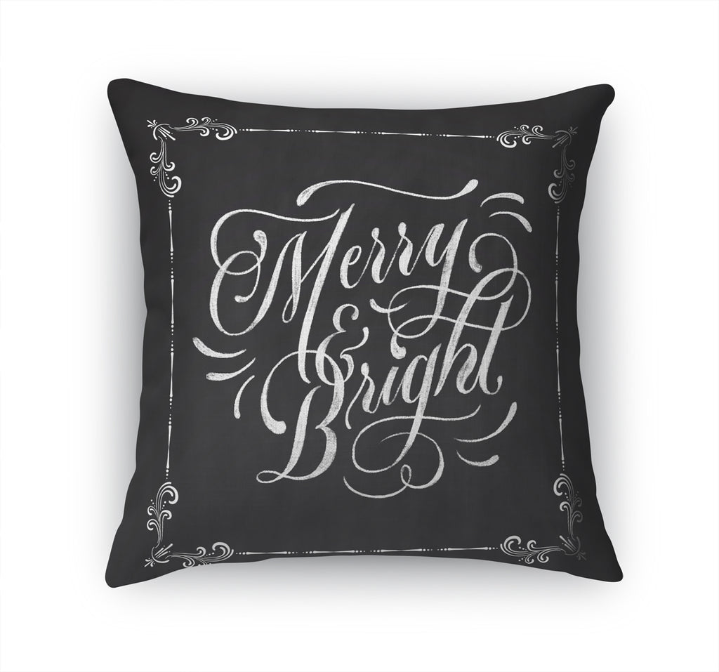 MERRY AND BRIGHT Accent Pillow By Terri Ellis
