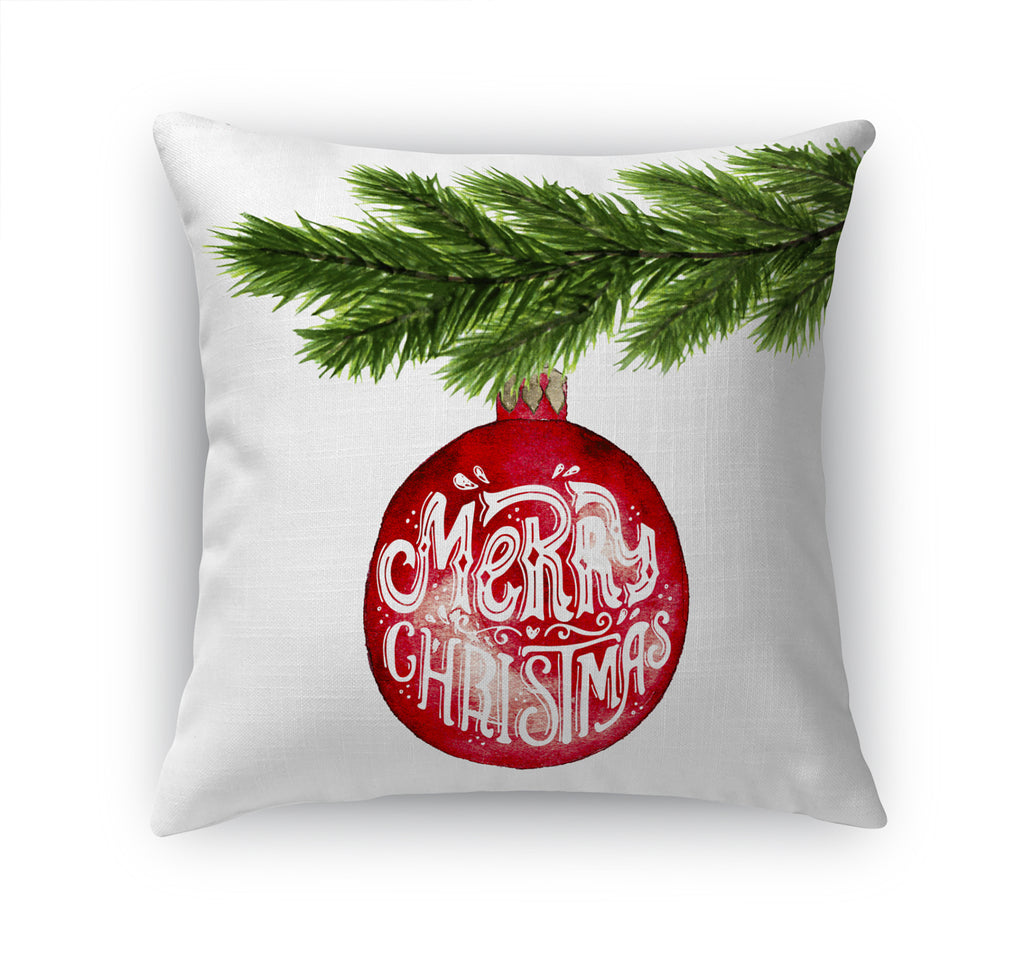 MERRY CHRISTMAS BALL Accent Pillow By Terri Ellis