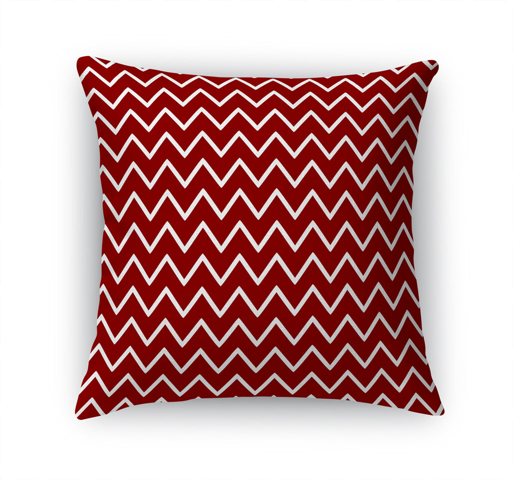 ZIG ZAG RED Accent Pillow By Terri Ellis