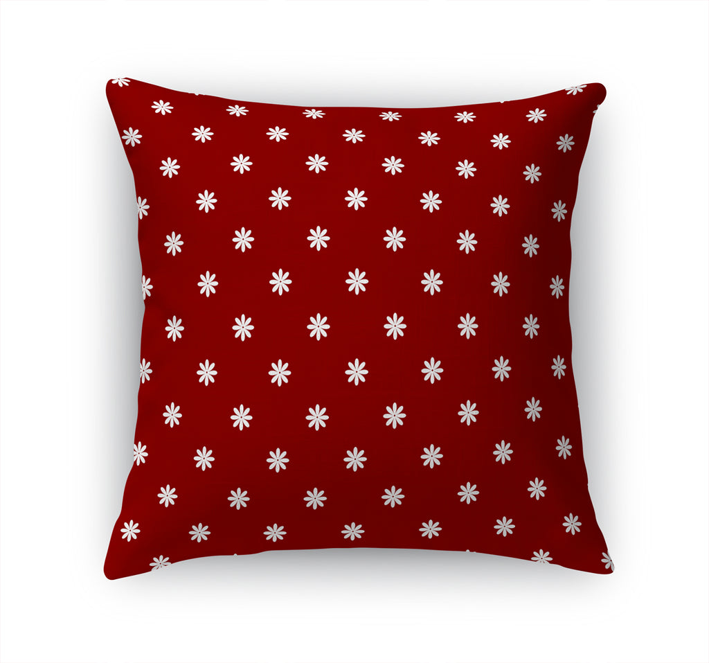 STAR FLOWER RED Accent Pillow By Terri Ellis