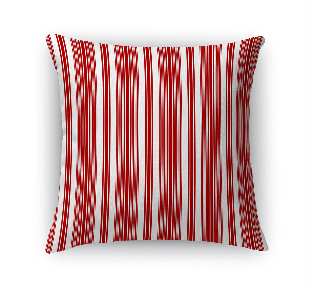 CHRISTMAS CANDY CANE STRIPE Accent Pillow By Terri Ellis