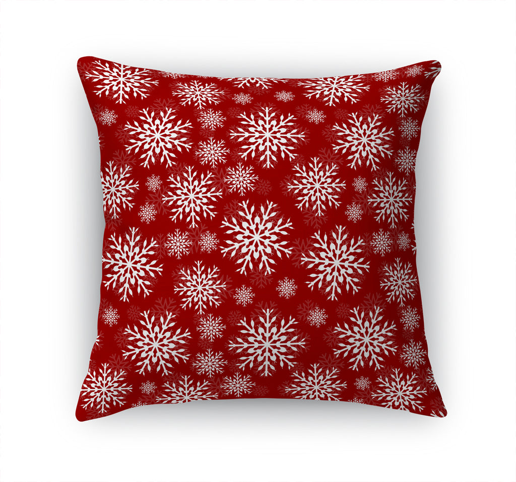 CHRISTMAS FLAKE RED Accent Pillow By Terri Ellis