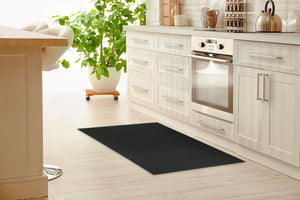 SUBWAY BLACK Kitchen Mat By Kavka Designs