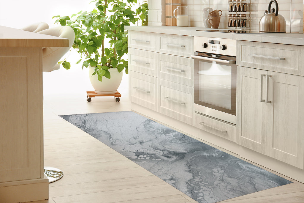 MARBLE GREY Kitchen Mat By Alyson McCrink
