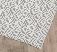 ABSTRACT LEAF GREY Kitchen Mat By Becky Bailey