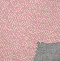 ABSTRACT LEAF PINK Kitchen Mat By Becky Bailey
