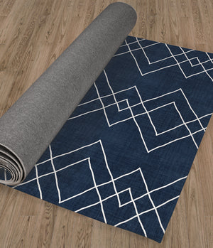 NUDO NAVY Kitchen Runner By Kavka Designs