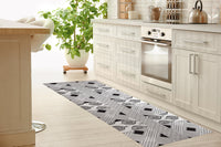 POMPEII GREY Kitchen Runner By Kavka Designs