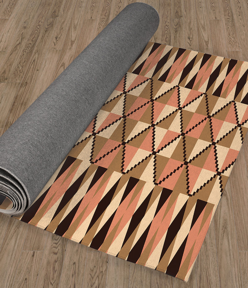 STEPPING STONE CORAL Kitchen Runner By Kavka Designs