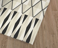 STEPPING STONE CREAM Kitchen Runner By Kavka Designs
