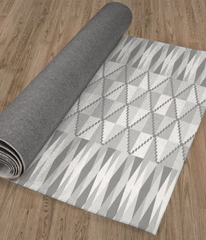 STEPPING STONE GREY Kitchen Runner By Kavka Designs