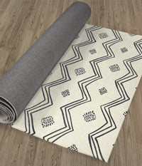 VILLAGE CREAM Kitchen Runner By Kavka Designs