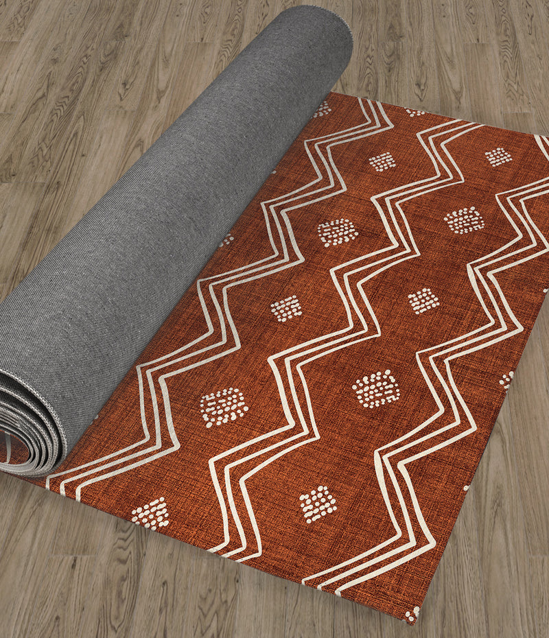 VILLAGE RUST Kitchen Runner By Kavka Designs