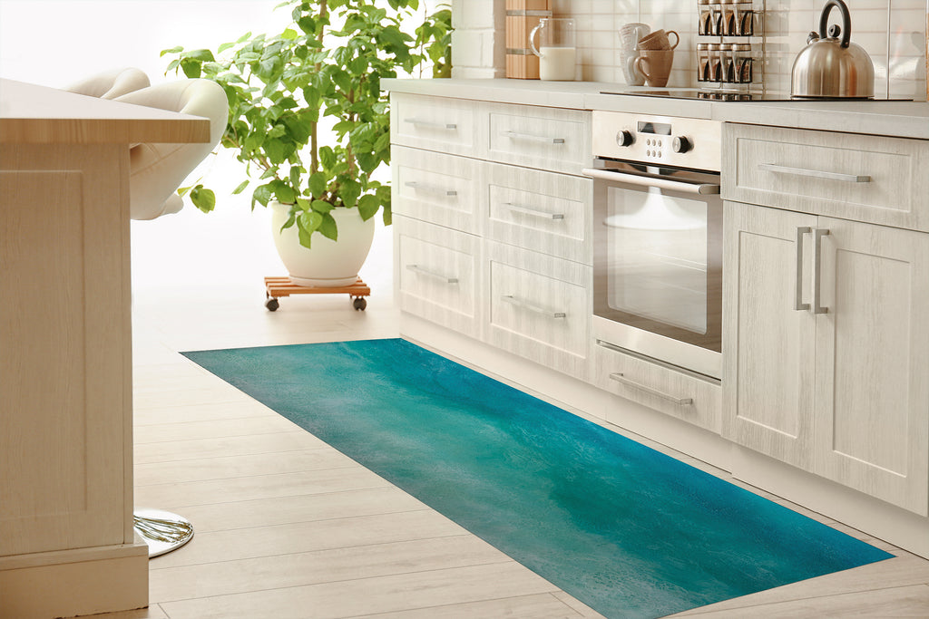 CATCH ME IN THE CAYMANS Kitchen Mat By Melissa Renee