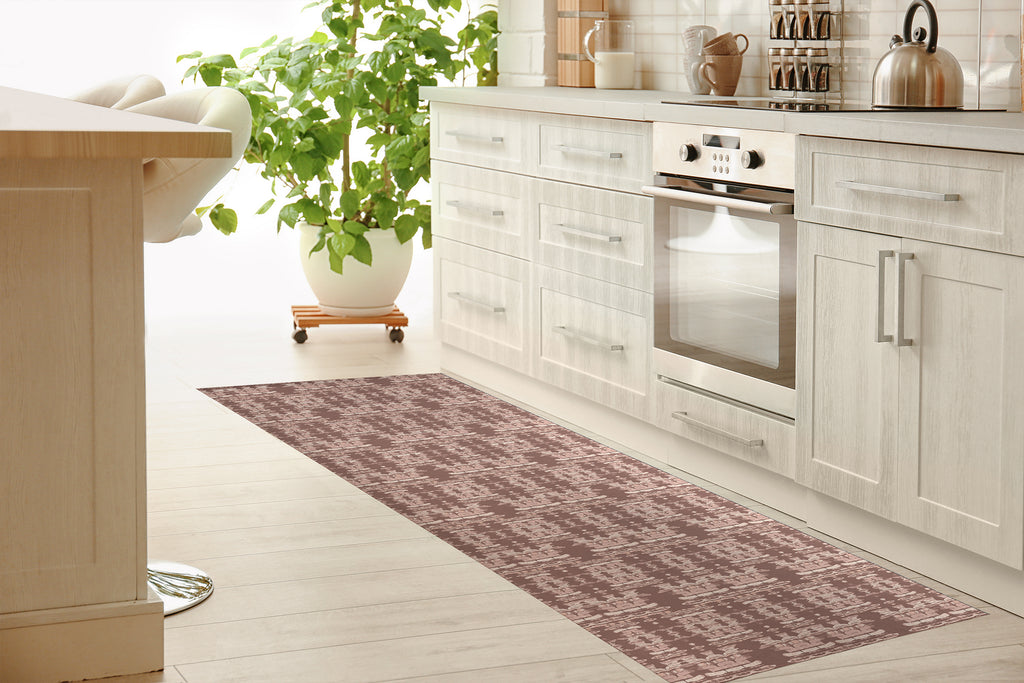 AZTEC DESERT CLAY Kitchen Mat By Hope Bainbridge