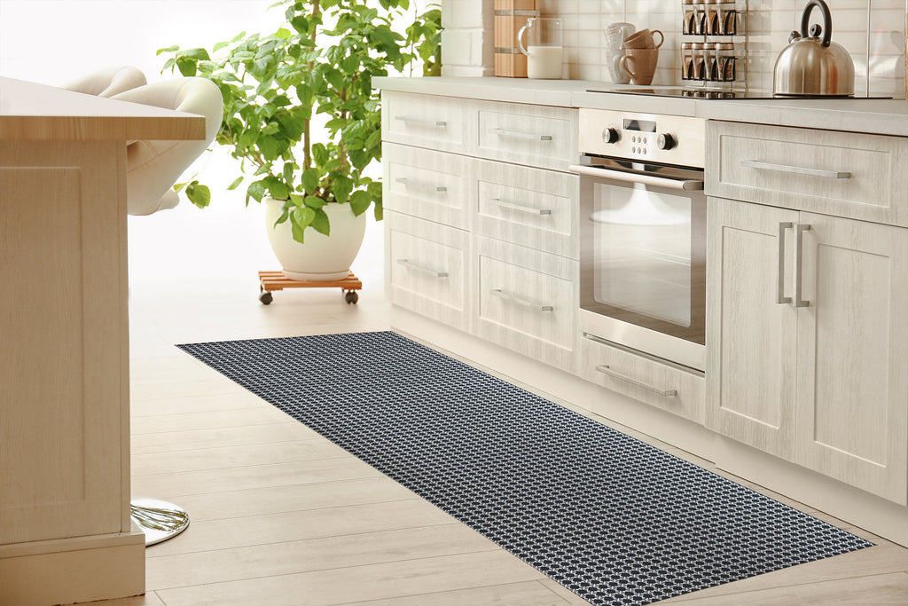 BLIMP NAVY Kitchen Mat By Hope Bainbridge